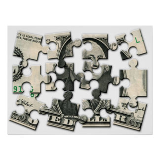 Dollar Puzzle Poster