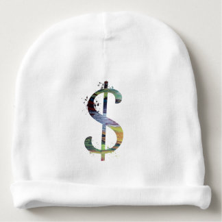 Dollar sign baby beanie