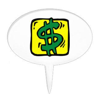 Dollar Sign Cake Topper