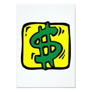 Dollar Sign Card