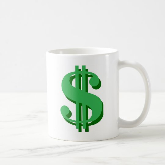 $ dollar-sign coffee mug