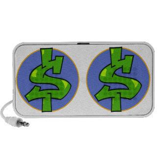 Dollar Sign Doodle Speakers