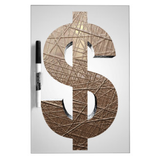 Dollar sign dry erase board