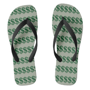 Dollar sign canvas shoes printed shoes zazzle dollar sign flip flops flip flops publicscrutiny Image collections