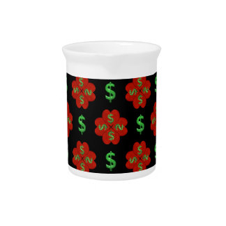 Dollar Sign Graphic Pattern Beverage Pitcher