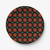 Dollar Sign Graphic Pattern Paper Plate