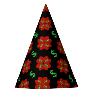 Dollar Sign Graphic Pattern Party Hat