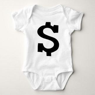 dollar sign icon baby bodysuit