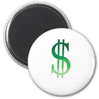 Dollar Sign in Color 2 Inch Round Magnet