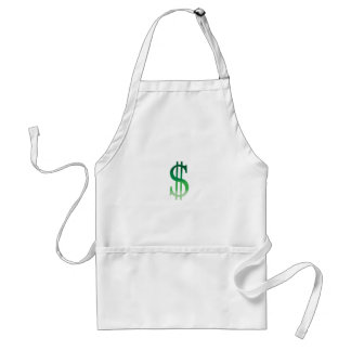 Dollar Sign in Color Adult Apron