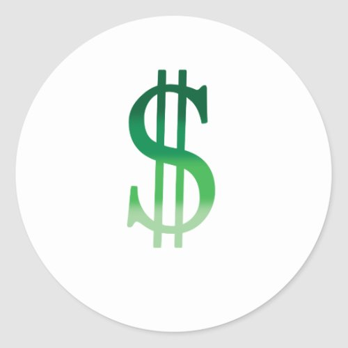 Dollar Sign in Color Classic Round Sticker