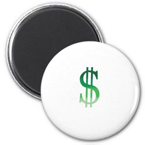 Dollar Sign in Color Magnet