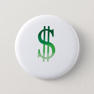 Dollar Sign in Color Pinback Button
