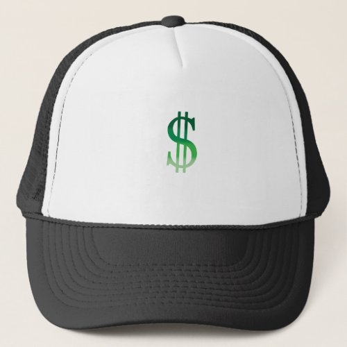 Dollar Sign in Color Trucker Hat
