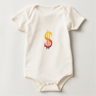 Dollar Sign in Color Rompers