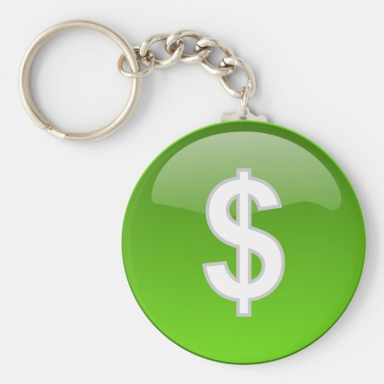 dollar sign keychain
