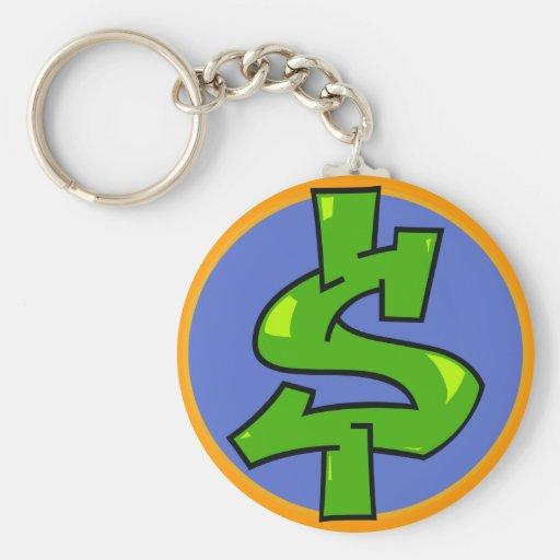 Dollar Sign Keychain