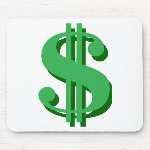 $ dollar-sign mouse pad