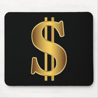 Dollar sign mouse pad