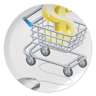 Dollar sign mouse trolley party plates
