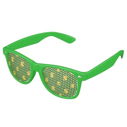 Dollar sign pattern  Adult Party Shades