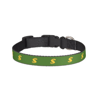 Dollar sign pattern Dog Collar