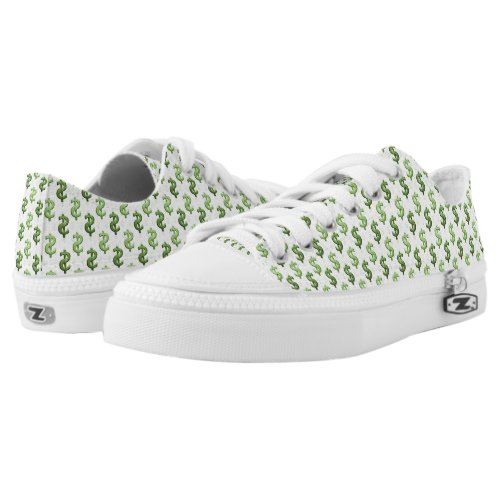 Dollar Sign Pattern Low_Top Sneakers