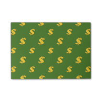 Dollar sign pattern post-it notes