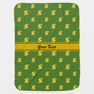 Dollar sign pattern receiving blanket