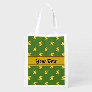 Dollar sign pattern  Reusable Bag Market Totes