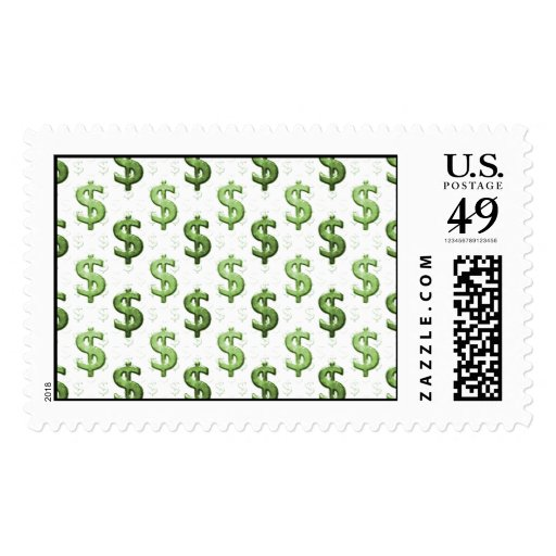 Dollar Sign Pattern Stamps