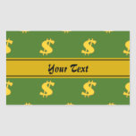 Dollar sign pattern Stickers