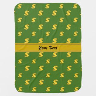 Dollar sign pattern swaddle blanket