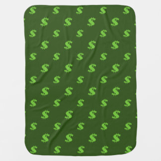 Dollar sign pattern swaddle blankets