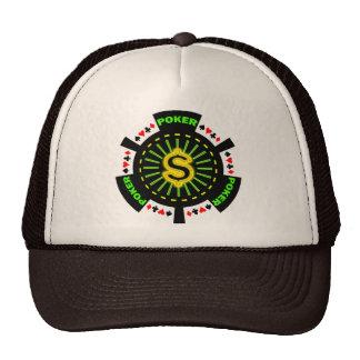 DOLLAR SIGN POKER CHIP MESH HAT