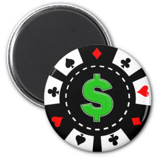 DOLLAR SIGN POKER CHIP MAGNET