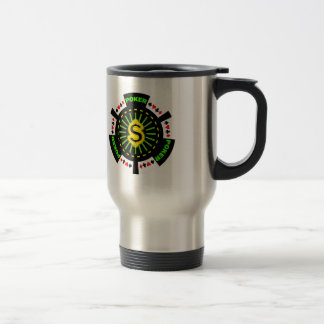 DOLLAR SIGN POKER CHIP TRAVEL MUG
