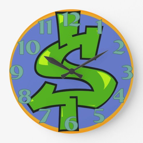 Dollar Sign Round Clock