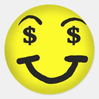 Dollar Sign Smiley Sticker