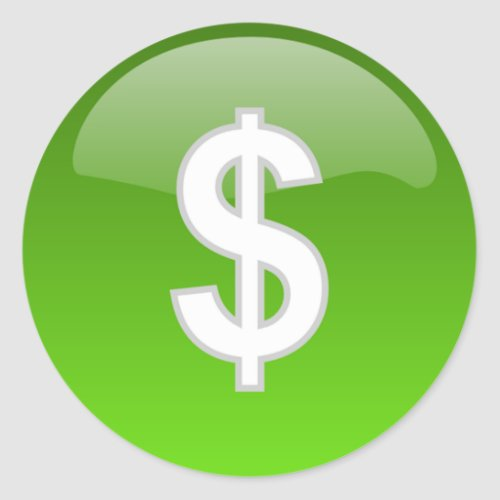 dollar sign stickers