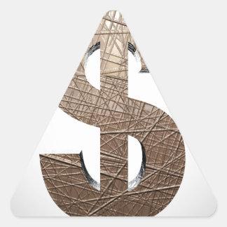 Dollar sign triangle sticker