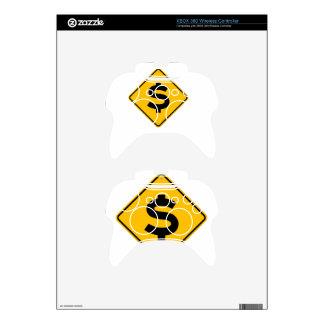 Dollar Sign Xbox 360 Controller Skin