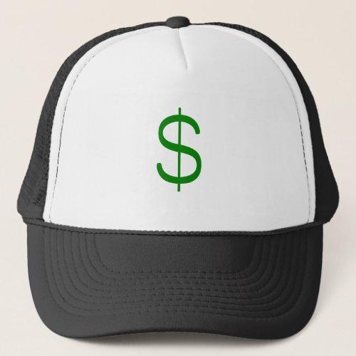Dollar Sign Yellow Green Pink Trucker Hat