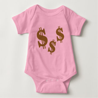 Dollar signs baby bodysuit