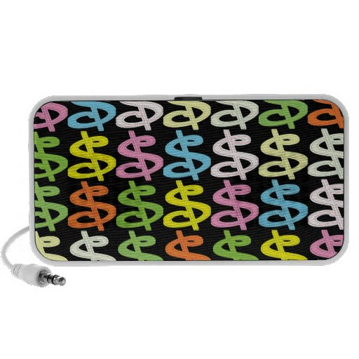 Dollar Signs Collage iPhone Speakers