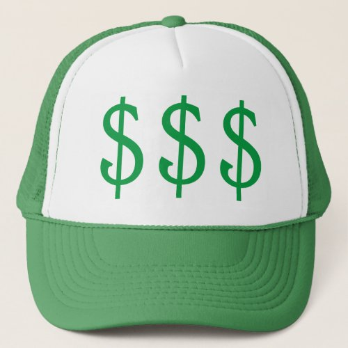 Dollar Signs Money on My Mind Trucker Hat