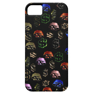 DOLLAR $ SIGNS on BLACK iPhone SE/5/5s Case