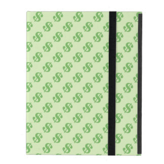 Dollar Signs on Green iPad Case