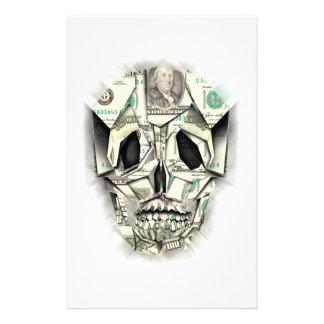 Dollar Skull design Customized Stationery