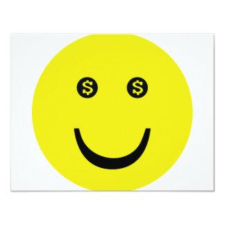 dollar smile icon card